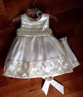 **NEW PRICE -New with Tags Beautiful Baby Wedding Dress/Bloomers