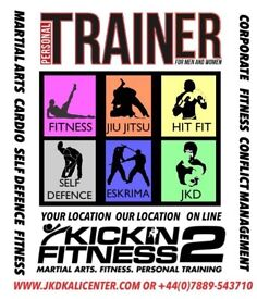 PERSONAL TRAINING for martial arts, fitness and self defence @ Our Location,Your Location or Online