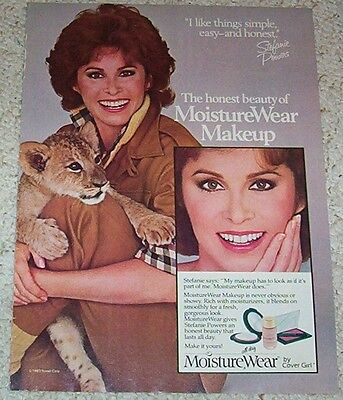 1984 ad page - STEFANIE POWERS Cover Girl Makeup cosmetics vintage Print ADVERT
