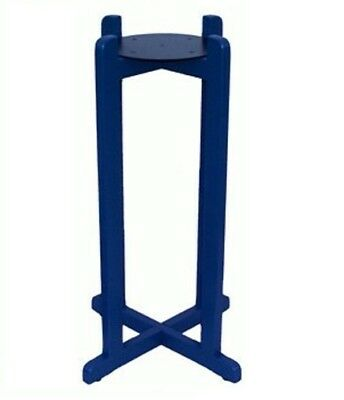 "27"" Water Crock Wood Floor Stand Porcelain Vase Dispenser H2O Jug Bottle Blue"
