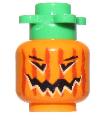 Lego Nuevo para Halloween Jack o' Farol Calabaza Minifigura Cabeza Monster Pieza ()