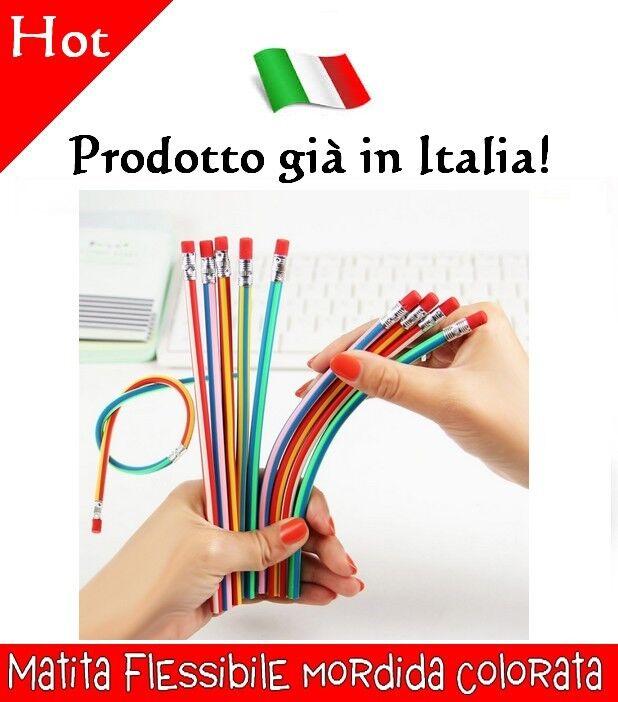 Matita morbida flessibile colorata idea regalo gadget matite con gomma