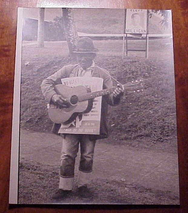 "1960 Local Kupuna Campaigning for Eddie Tam Guitar Wailuku Maui Hawaii 8"" x 10"""