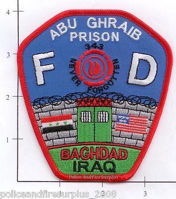 Iraq - Abu Ghraib Fire Dept Patch 9-11 343 Not Forgotten