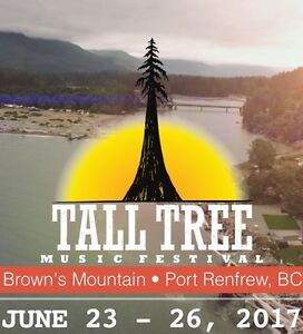 Tall Tree festival ticket, camping included