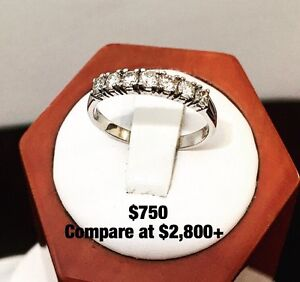 14K GOLD DIAMOND ETERNITY ENGAGEMENT RING BANDS *See Photos