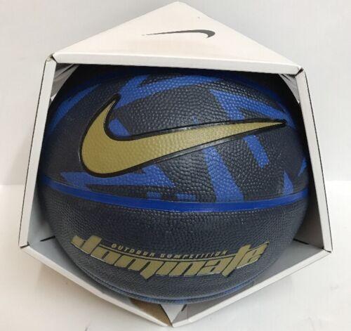 526b2db2 Nike dominate Basketball Ball Size Full 29.5 Navy/Royal/Gold NEW фото