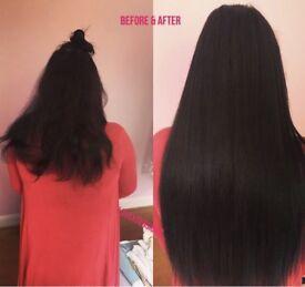 180 FULL HEAD HAIR EXTENSIONS MICRORINGS NANORINGS TAPEIN