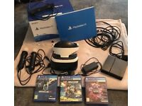 PlayStation VR Headset/Camera bundle with 3 Games