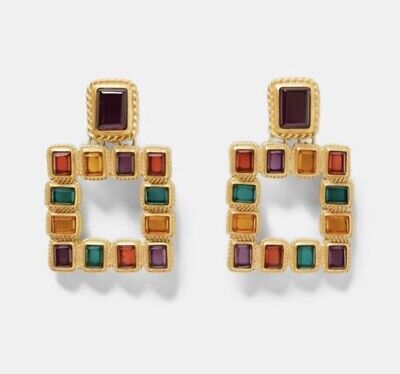 Zara Earrings Jewel square Style