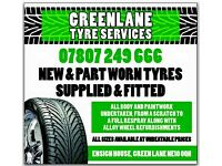 TYRES NEW AND PART WORN GUARANTEED TO BE CHEAPEST IN NORTHEAST GREENLANE FELLING TYRE