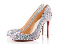 Sparkly Christian Louboutin Heels Size 6 **gorgeous**