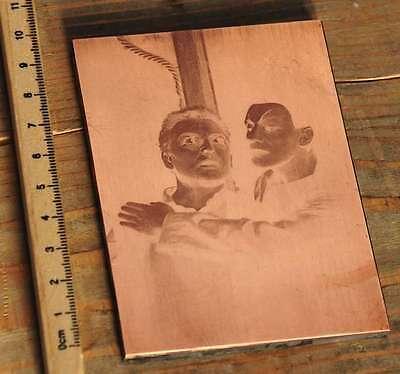 Galvano Kupferklischee Druckplatte Druckerei Bleisatz letterpress copper plate