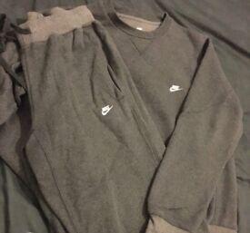 Men's Grey Nike Tracksuit Size S