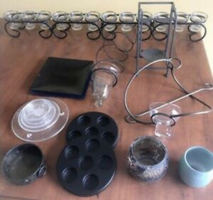 **LOT OF VARIOUS STYLE CANDLE HOLDERS FOR SALE**