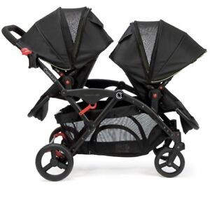 Contours Options Double stroller with all attachments