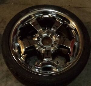 4 bolt 17 inch chrome rims new tires