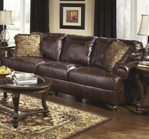 Large real leather couch