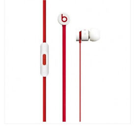 BRAND NEW 100% GENUINE BEATS UR BEATS HEADPHONES WHITE AND RED