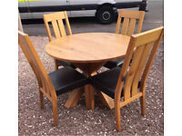 Next oak table and chairs
