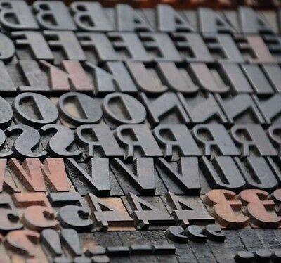 Art Deco Letterpress Wood Printing Blocks 171pcs 0.51 Tall Wooden Type Woodtype