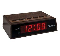 Westclox 22690 Retro Wood Grain LED Alarm Clock, 0.6-Inch  BRAND NEW IN BOX!!!