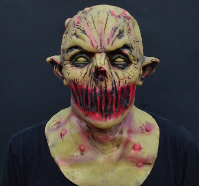 Creepy Scary Halloween Zombie Mask Latex Deadly Silence - Latex Scary Masks