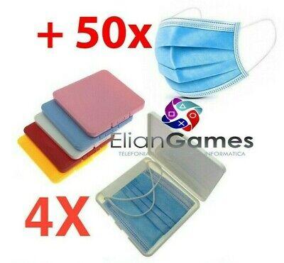 porta mascherine custodia cover contenitore organizer portatile tascabile X4
