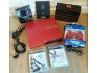 Sony PS3 Scarlet Red 320gb Lmtd Ed Final Fantasy A1!!