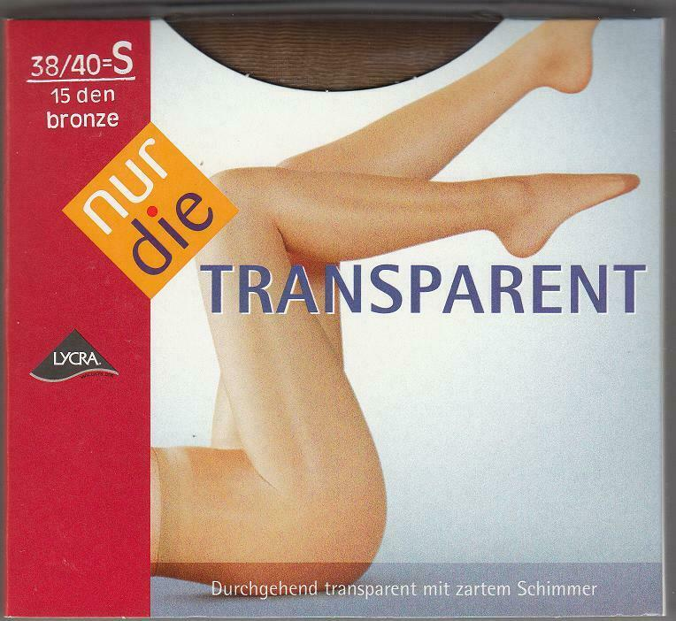 NUR DIE Strumpfhose Transparent 15 den,Gr.38/40 -Farbe Bronze Glatt und Glänzend