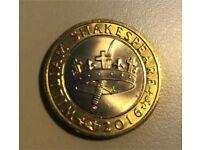 Rare William Shakespeare £2 coin