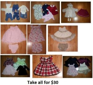 3-6 Mths Baby Girl Clothing Lot 1 (Take 20 Pieces for $30)