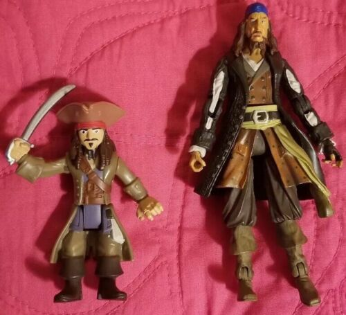 Pirates Of The Caribbean- Mini Futures - Jack Sparrow And Hector Barbossa - $2.95