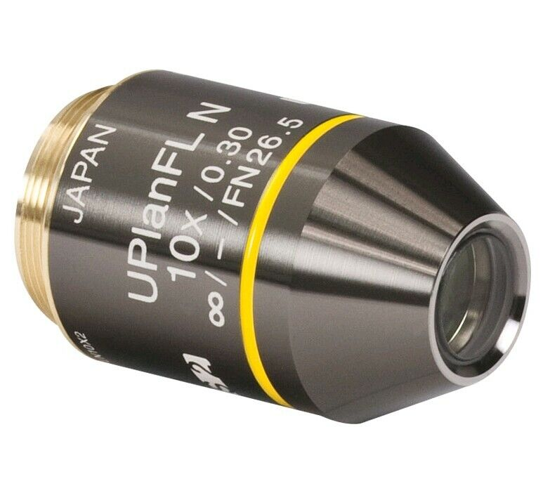 Olympus UPLFLN10X2 Plan Fluorite, 0.3 NA, 10 mm WD, Microscope Objective