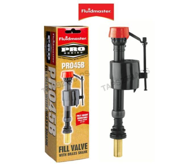 Ball Valve Bottom Entry Toilet Water Fill Valve Adj Fluidmaster Pro PRO45B