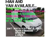 Van and driver available.