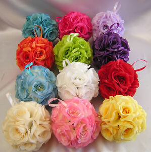 6-Wedding-Kissing-Balls-Pomander-Pew-Decoration-Flower-Girl-Bouquet-Your-Colors
