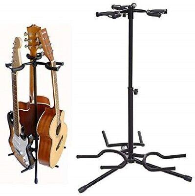 Multi Guitar Stand Tripod Adjustable Floor Metal Rack Acoustic Electric Holder 3