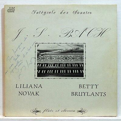 (JS BACH complete harpsichord & flute sonatas LILIANA NOVAK / BETTY BRUYLANTS)