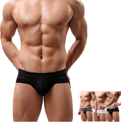 Mens Sexy Cotton Underwear Shorts Men Boxers Underpants Solid Color Soft Briefs