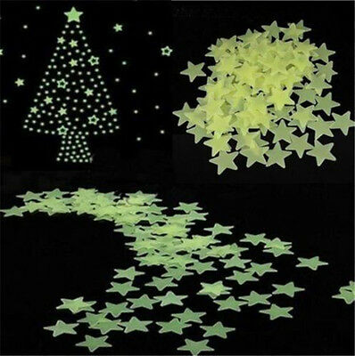 Top Home Decorating Blogs 100Pcs Home Wall Light Green Glow In The Dark Star Stickers Decal Baby Kids Gift Aluminum Home Decor