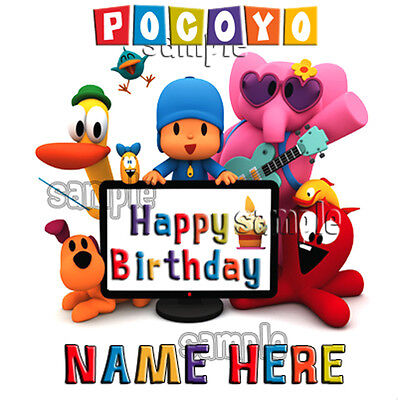Pocoyo Personalized Party Favor Birthday New Gift Tee Present Add Name
