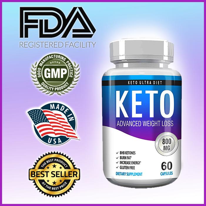 KETO Diet Pills - MAX STRENGTH Fat Burner Weight Loss Supple
