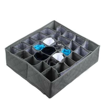 30 Cells Bamboo Charcoal Ties Socks Drawer Closet Organizer Storage Box Gary