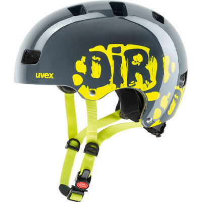 Uvex Kinder BMX Skate Fahrradhelm Kid 3 dirtbike gray-lime 51-55