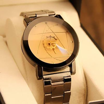 Luxury Men Stainless Steel Quartz Analog Dail Watches Military Sport Wrist Watch