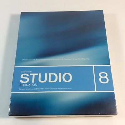 NEW Macromedia Studio 8 Education Design Suite Software for Mac and Windows
