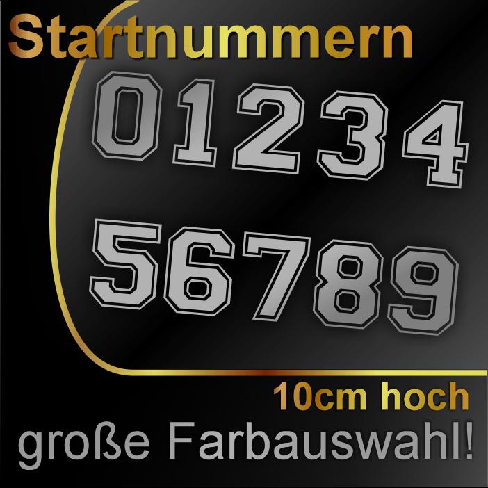 ### Startnummern Aufkleber »» 10cm «« Motorrad Auto Rennnummer PKW Boot Zahlen