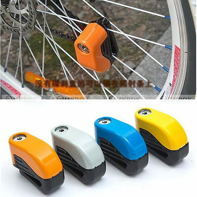 Bike Bicycle Security Alarm 80DB Audible Sound Lock NEW