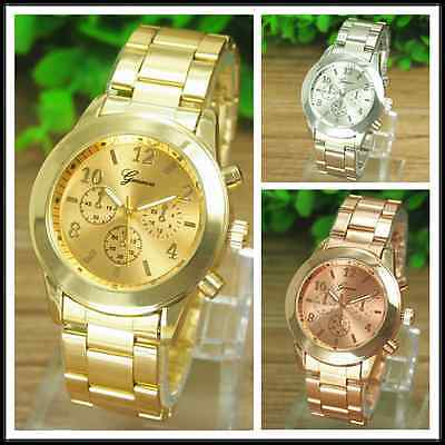 $7.99 -  Fashion Geneva Luxury Alloy Analog Quartz Girl Women Ladies Wrist Watch
